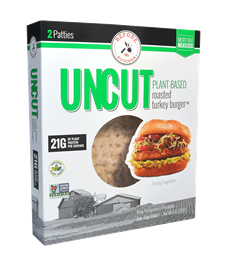 UNCUT Plant-Based Roasted Turkey Burger, 8 oz