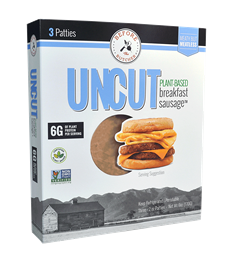 UNCUT Plant-Based Sausage Patty, 6 oz