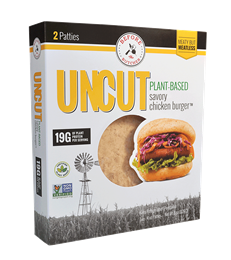UNCUT Plant-Based Savory Chicken Burger, 8 oz